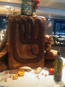 A giant piece of Brewers Bread