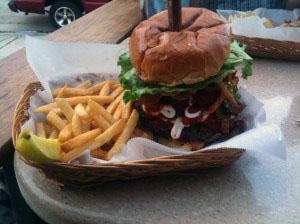 My delicious burger!