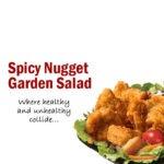 Wendy's Spicy Nugget Garden Salad