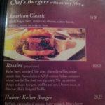 The Burger Bar menu