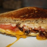 Beer-bread and Bacon Grilled Cheese