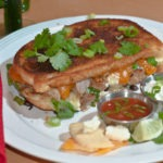 Three Cheese Carnitas Mexican Grilled Cheese Sandwich