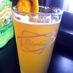A nice tall glass of Palomino White beer
