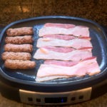 Pre-cooking the bacon and sausage