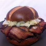 The Bacon Weave Brat Burger