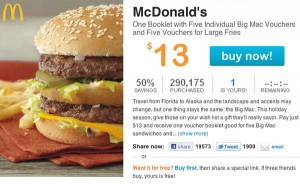 McDonald's Living Social Big Mac Deal