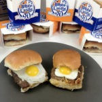 White Castle Sliders and Quail Eggs