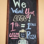 Trade in your old LEGO bricks for pizza!