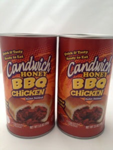 The Honey BBQ Chicken Sandwich in a Can