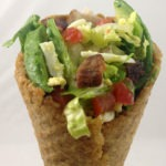 Cobb Salad in a Crouton Cone