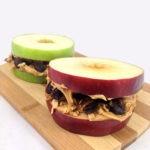 Peanut Butter, Granola and Apple Sandwiches
