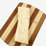 Crescent roll dough cut into a rectangle