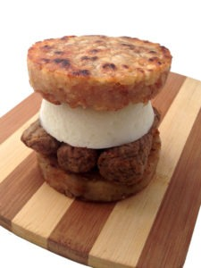 The Hash Brown Bun Breakfast Sandwich