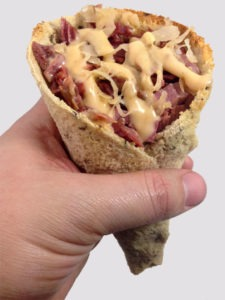 The Reuben Sandwich Cone