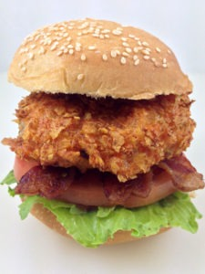 The Deep Fried Doritos Breaded Burger