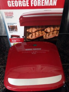 My new George Foreman grill