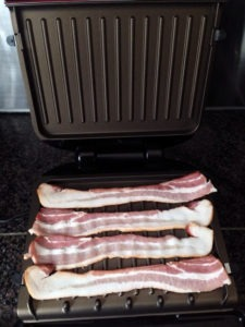 Bacon on the George Foreman grill