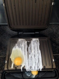 Eggs on the George Foreman grill