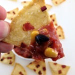 Bacon and corn tortilla chips