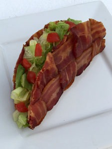 The BLT Bacon Weave Taco