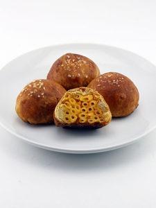 Macaroni and Cheese Stuffed Soft Pretzel Balls