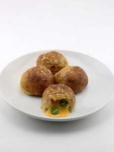 Nacho Cheese Stuffed Soft Pretzel Balls