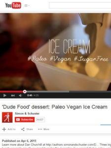 Paleo, vegan sugar-free ice cream