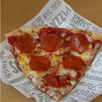 Sbarro's X-treme Double Duo Pepperoni pizza
