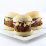 Teriyaki Pork Tenderloin Sliders With Pineapple Coleslaw