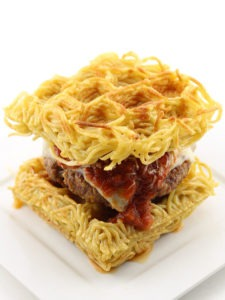The Waffled Spaghetti Bun Burger