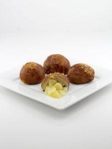 Pear Stuffed Soft Pretzel Balls