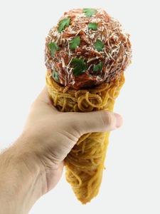 The Spaghetti and Meatball Cone