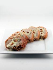 Applewood Smoked Bacon Pork Loin Filet With Bacon Dijon Sauce