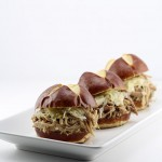 Bratwurst Style Pulled Pork Sliders