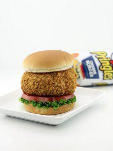 The Cheeseburger Pringles Breaded Deep Fried Burger