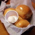 Fresh baked rolls and cinnamon butter
