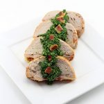 Applewood Smoked Bacon Pork Loin Filet With Bacon Chimichurri Sauce