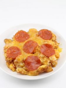 Deep Fried Cheese Curd Crust Pizza