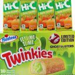 Ecto Cooler and Key Lime Slime Twinkies
