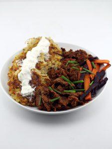 Sautéed Beef & Potato Latkes