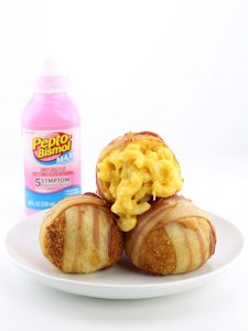 Deep Fried Bacon Wrapped Macaroni and Cheese Balls