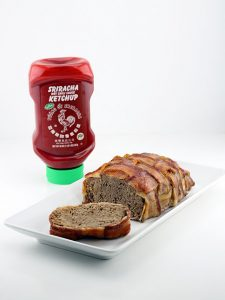 Bacon Wrapped Sriracha Ketchup Meatloaf
