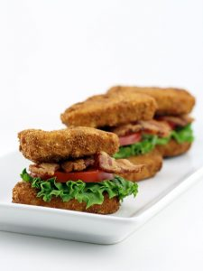 Deep Fried Pork Loin BLT Sandwiches
