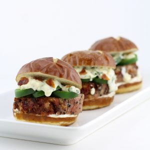 Jalapeño Popper Inspired Pork Tenderloin Sliders