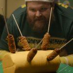 Deep Fried Spaghetti Dogs on a Stick
