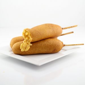 Macaroni and Cheese Corn Dogs