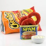 Deep Fried Flamin' Hot Cheetos Breaded SPAM Rings