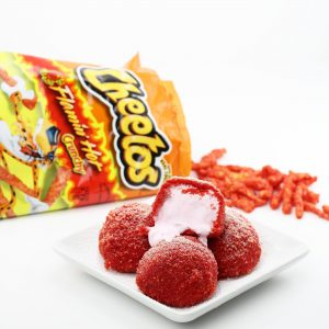 Deep Fried Flamin' Hot Cheetos Breaded Ice Cream
