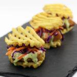 Fish Filet Waffle Fry Sliders