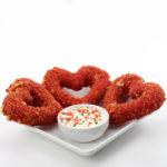 Valentine's Day Mozzarella Cheese Stick Hearts